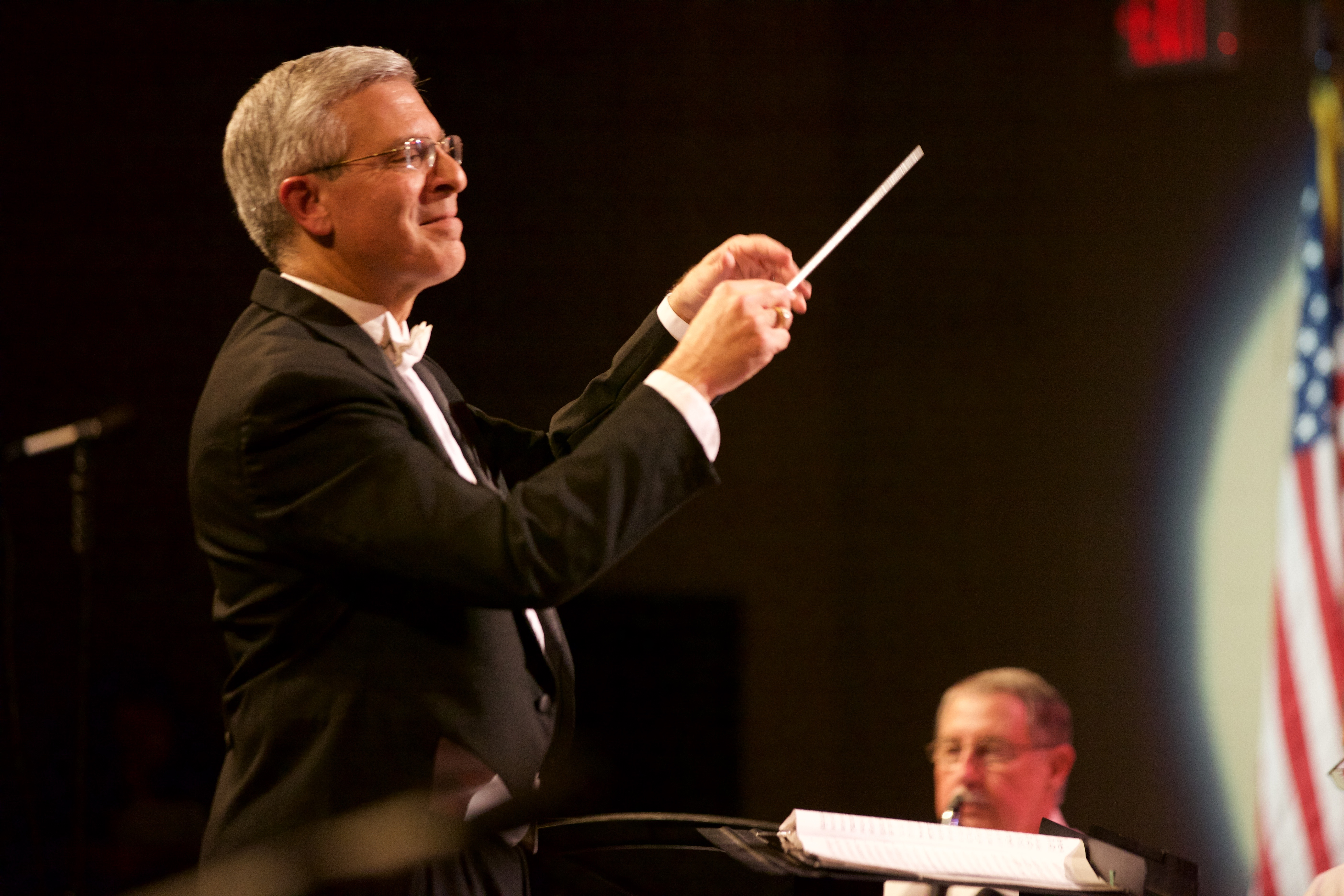 Geoffrey Magnani leads the st. Augustine Concert Band
